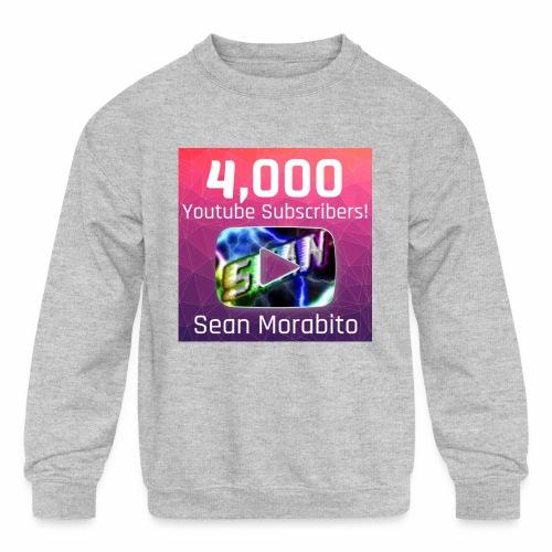 4000 Subs edited - Kids' Crewneck Sweatshirt