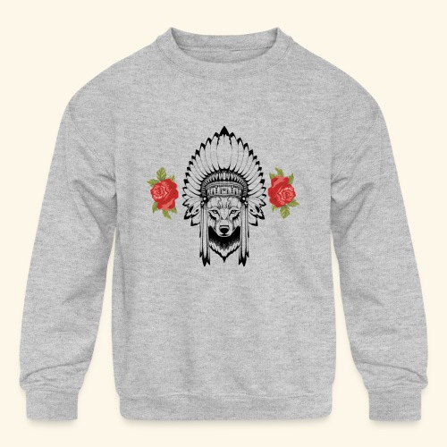 WOLF KING - Kids' Crewneck Sweatshirt