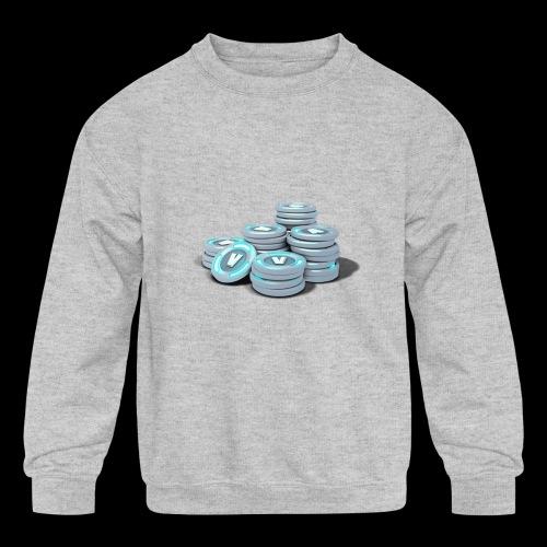vbucks - Kids' Crewneck Sweatshirt