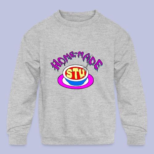 home made stu Logo - Kids' Crewneck Sweatshirt