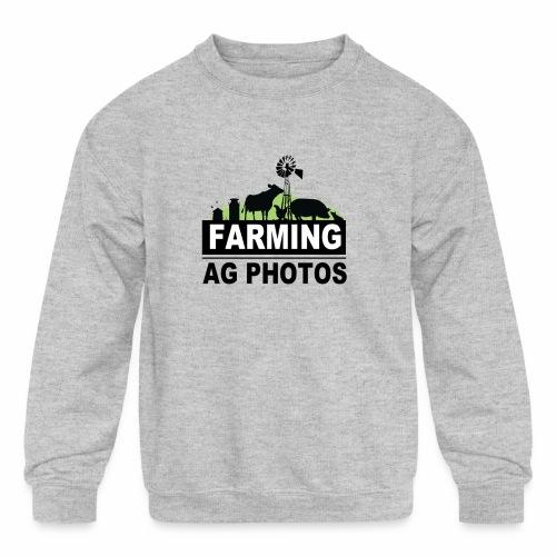 Farming Ag Photos - Kids' Crewneck Sweatshirt