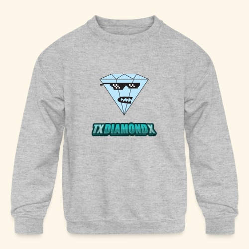 Txdiamondx Diamond Guy Logo - Kids' Crewneck Sweatshirt