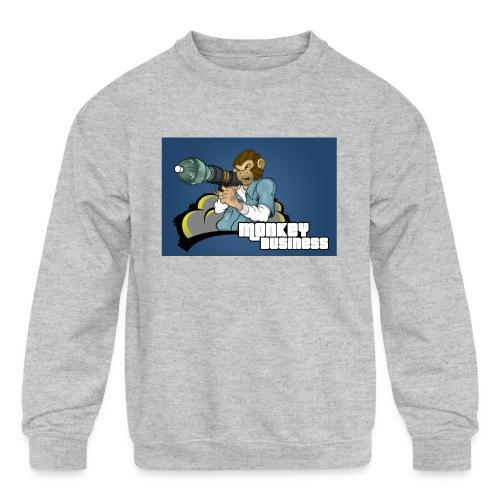 MonkeyBuisness - Kids' Crewneck Sweatshirt