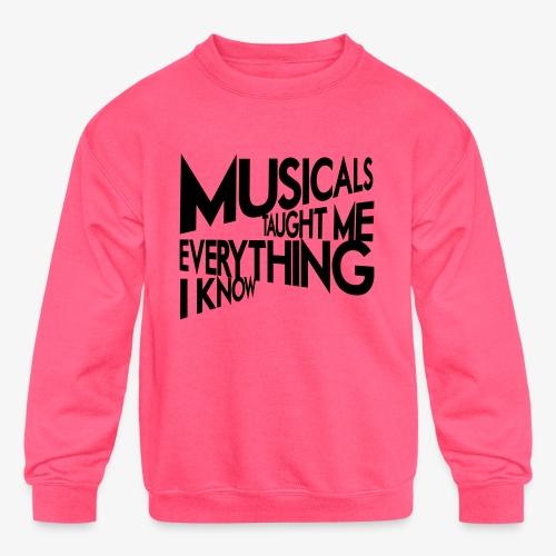 MTMEIK Black Logo - Kids' Crewneck Sweatshirt