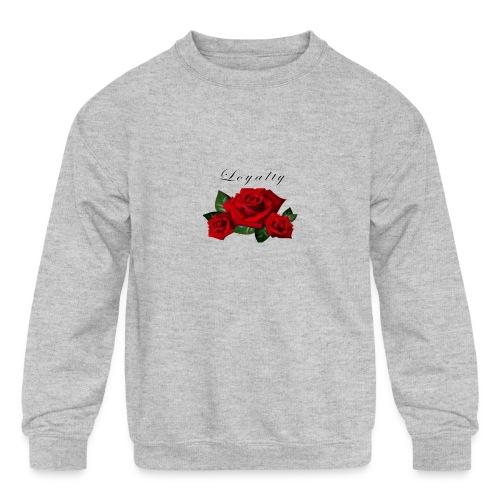 rose shirt - Kids' Crewneck Sweatshirt