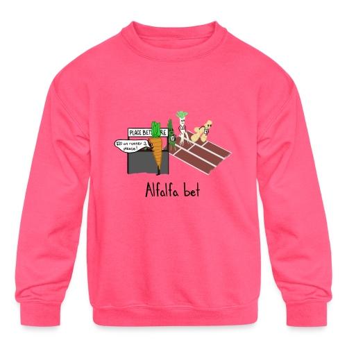 Alfalfa Bet - Kids' Crewneck Sweatshirt