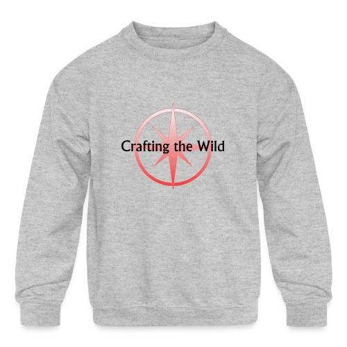 Crafting The Wild - Kids' Crewneck Sweatshirt