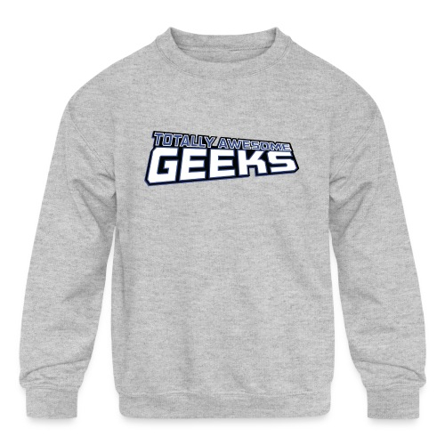 Logo For Totally Awesome Geeks - Kids' Crewneck Sweatshirt
