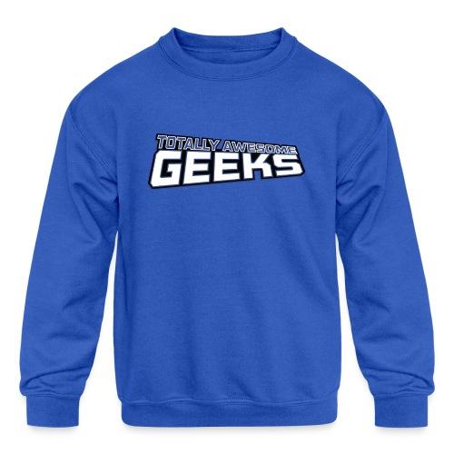 Logo For Totally Awesome Geeks - Kids' Crewneck Sweatshirt
