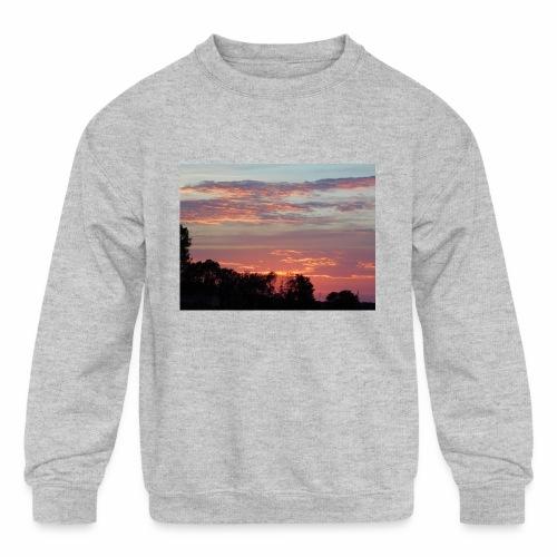 Sunset of Pastels - Kids' Crewneck Sweatshirt