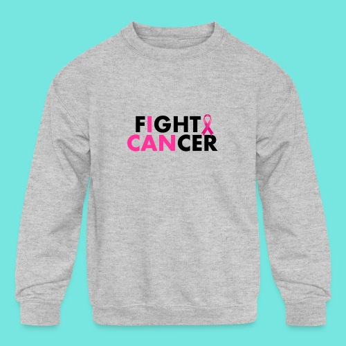 FIGHT CANCER - Kids' Crewneck Sweatshirt