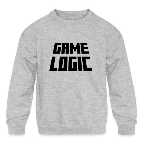 Game Logic Logo - Kids' Crewneck Sweatshirt