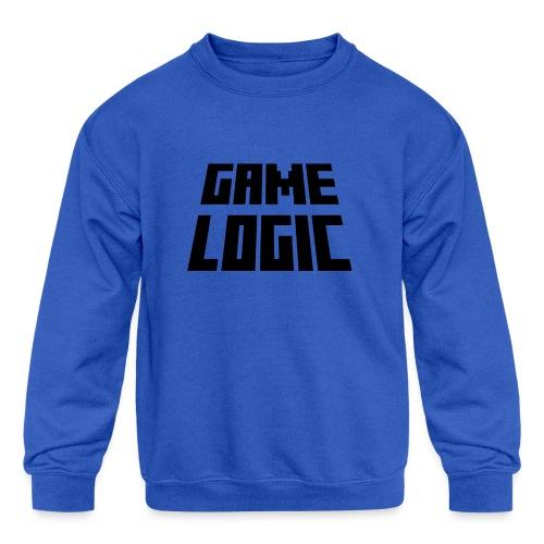 Game Logic Logo - Kids' Crewneck Sweatshirt