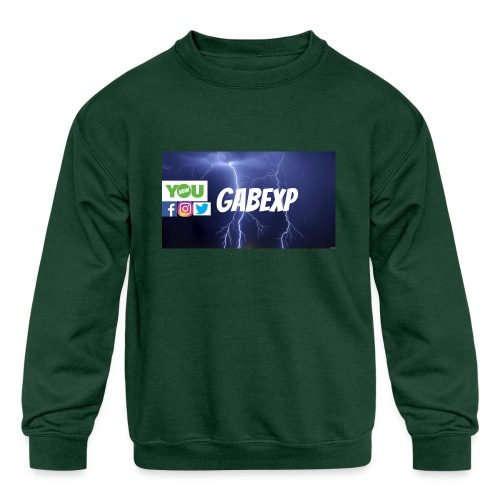 gabexp 1 - Kids' Crewneck Sweatshirt