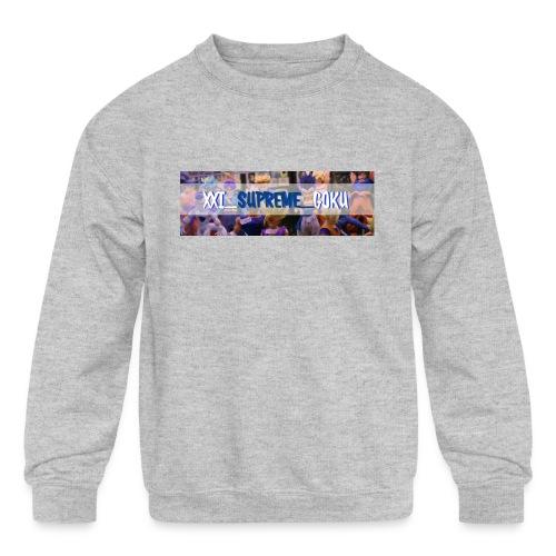 XXI SUPREME GOKU LOGO 2 - Kids' Crewneck Sweatshirt
