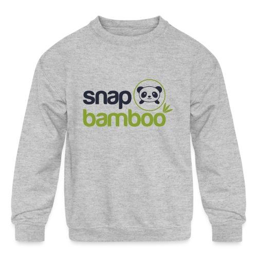 Snap Bamboo Square Logo Branded - Kids' Crewneck Sweatshirt