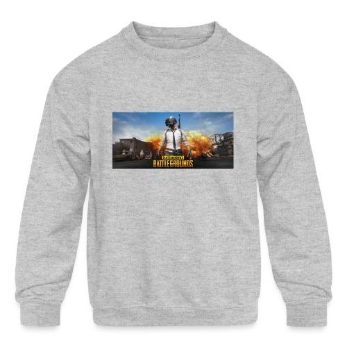 pubg 1 - Kids' Crewneck Sweatshirt