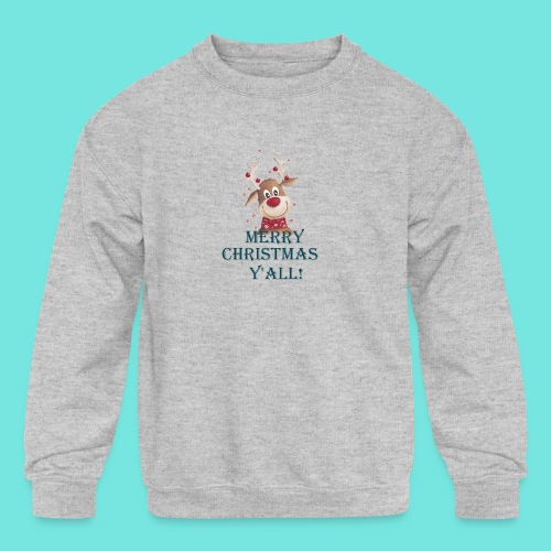 MERRY CHRISTMAS Y'ALL! - Kids' Crewneck Sweatshirt