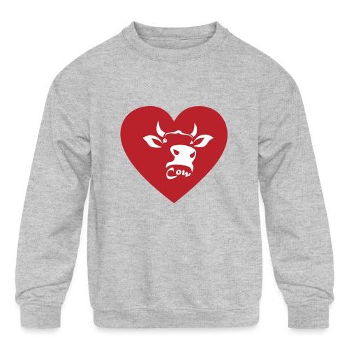 Cow Heart - Kids' Crewneck Sweatshirt