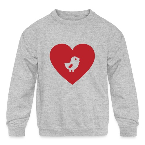 Heart Chick - Kids' Crewneck Sweatshirt