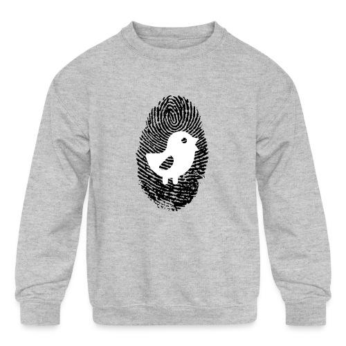 Chick Finger Print - Kids' Crewneck Sweatshirt