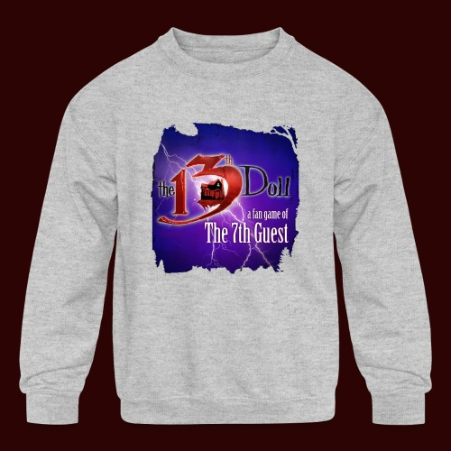 The 13th Doll Logo With Lightning - Kids' Crewneck Sweatshirt