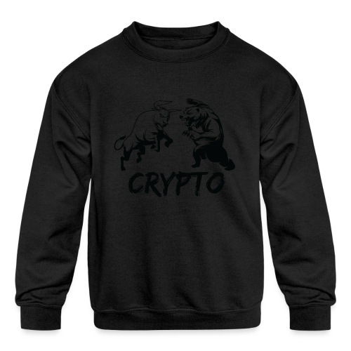 CryptoBattle Black - Kids' Crewneck Sweatshirt