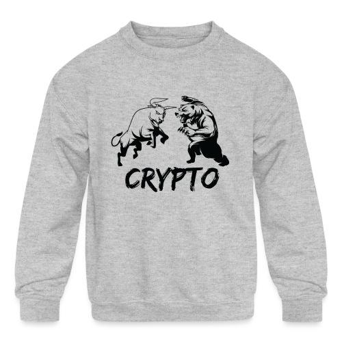 CryptoBattle Black - Kids' Crewneck Sweatshirt