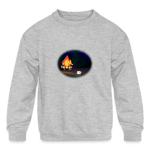 'Round the Campfire - Kids' Crewneck Sweatshirt