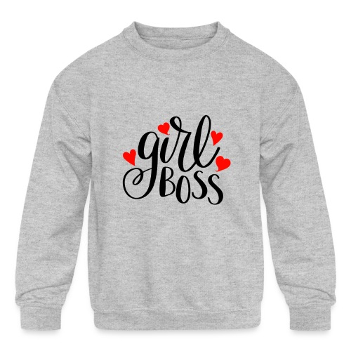 girl boss - Kids' Crewneck Sweatshirt