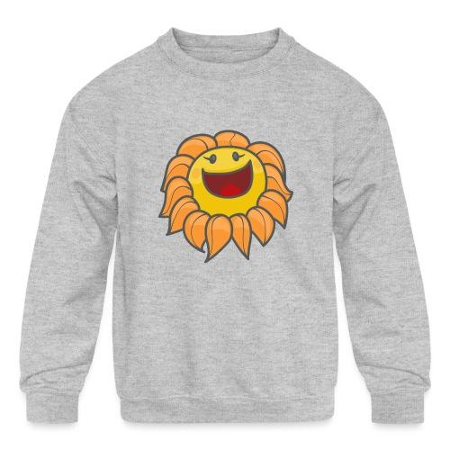Happy sunflower - Kids' Crewneck Sweatshirt