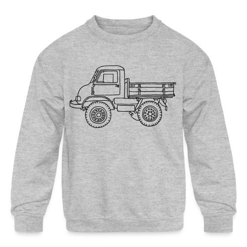 Off-road truck, transporter - Kids' Crewneck Sweatshirt