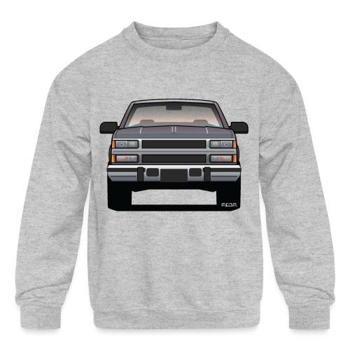 Design Icon: American Bowtie Silver Urban Truck - Kids' Crewneck Sweatshirt