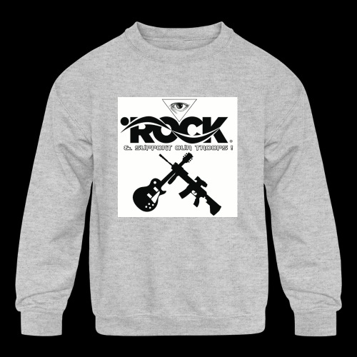 Eye Rock & Support The Troops - Kids' Crewneck Sweatshirt
