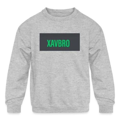 xavbro green logo - Kids' Crewneck Sweatshirt