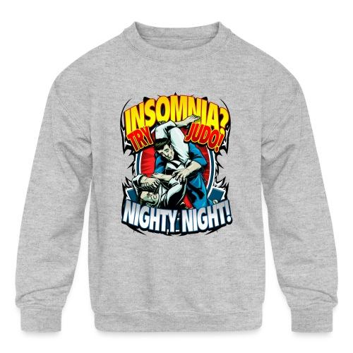 Insomnia Judo Design - Kids' Crewneck Sweatshirt
