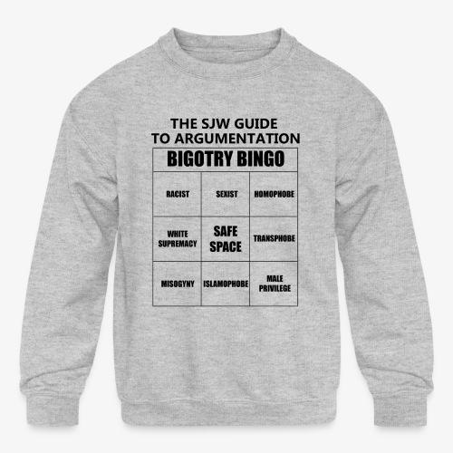Bingo black - Kids' Crewneck Sweatshirt