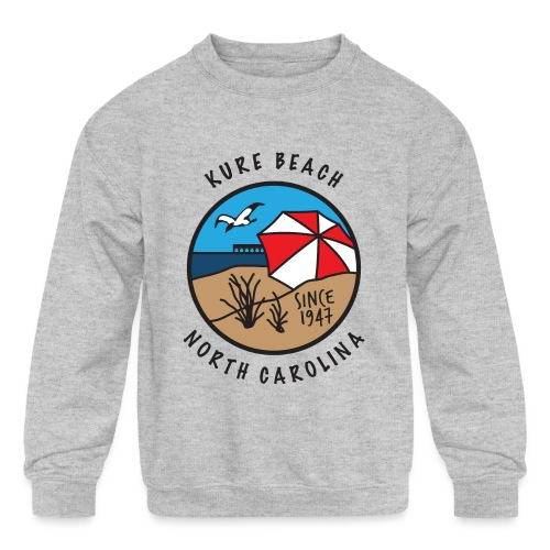 Kure Beach Day-Black Lettering-Front Only - Kids' Crewneck Sweatshirt