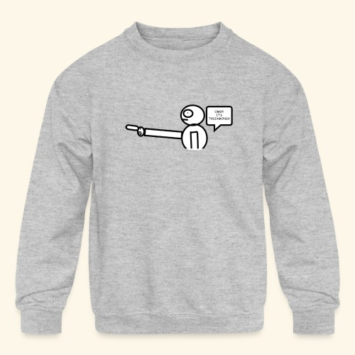 OMG its txdiamondx - Kids' Crewneck Sweatshirt