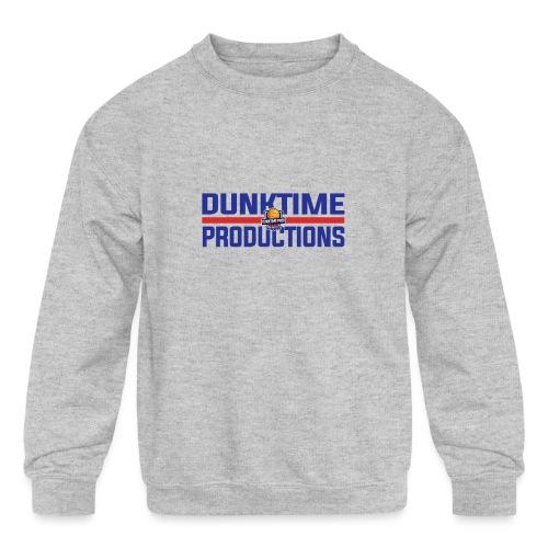 DUNKTIME Retro logo - Kids' Crewneck Sweatshirt
