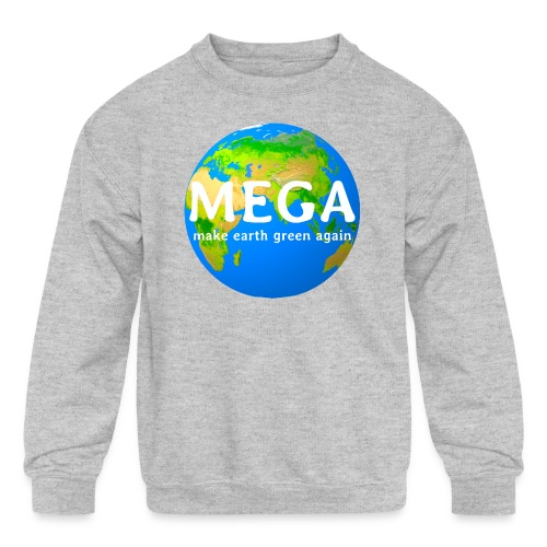 MEGA - make earth green again - Kids' Crewneck Sweatshirt