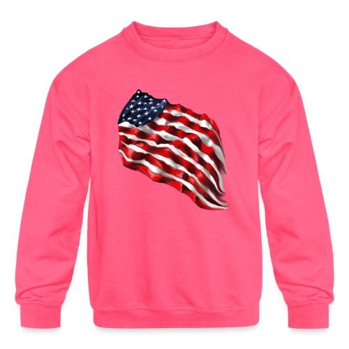 Bold Flag - Kids' Crewneck Sweatshirt