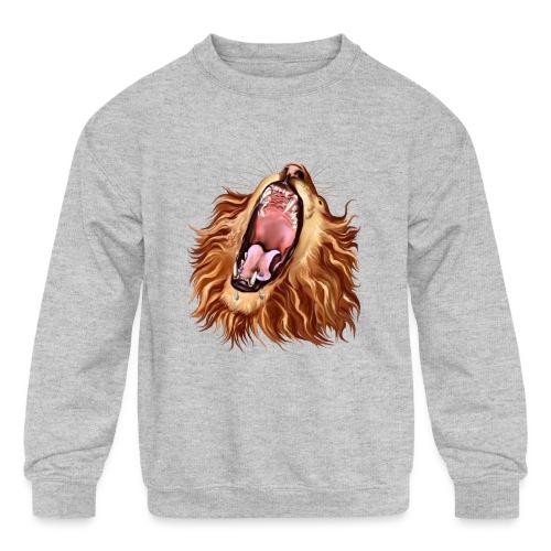 Lion's Face - Kids' Crewneck Sweatshirt