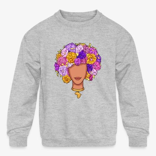 Flower Woman - Kids' Crewneck Sweatshirt