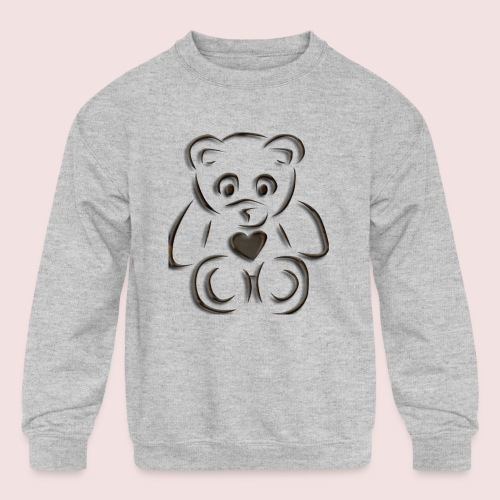 realistic teddy - Kids' Crewneck Sweatshirt