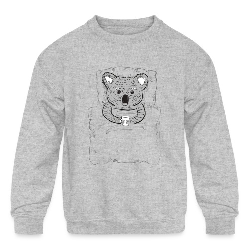 Print With Koala Lying In A Bed - Kids' Crewneck Sweatshirt