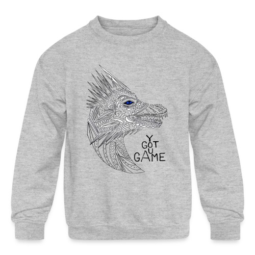 Blue eye dragon - Kids' Crewneck Sweatshirt