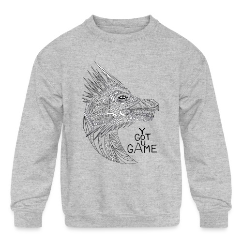 "Dragon ""you got game"" - Kids' Crewneck Sweatshirt"