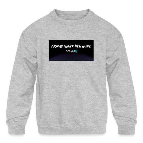 Friday Night New Wave - Kids' Crewneck Sweatshirt