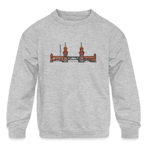 Oberbaum Bridge Berlin - Kids' Crewneck Sweatshirt